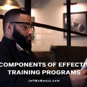 2 Components of Effective Training Programs
